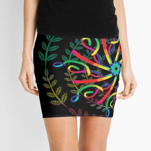 mandala 1 - leaf spirit  Mini Skirt