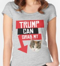 Trump Can Grab My Pussy Women's Fitted Scoop T-Shirt