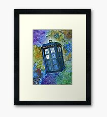TARDIS from Dr Who Framed Print