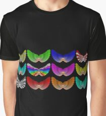 Colorful Foot Wings Graphic T-Shirt