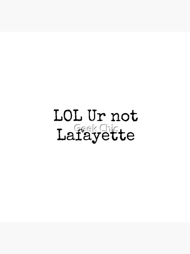 Lafayette de geekery2016