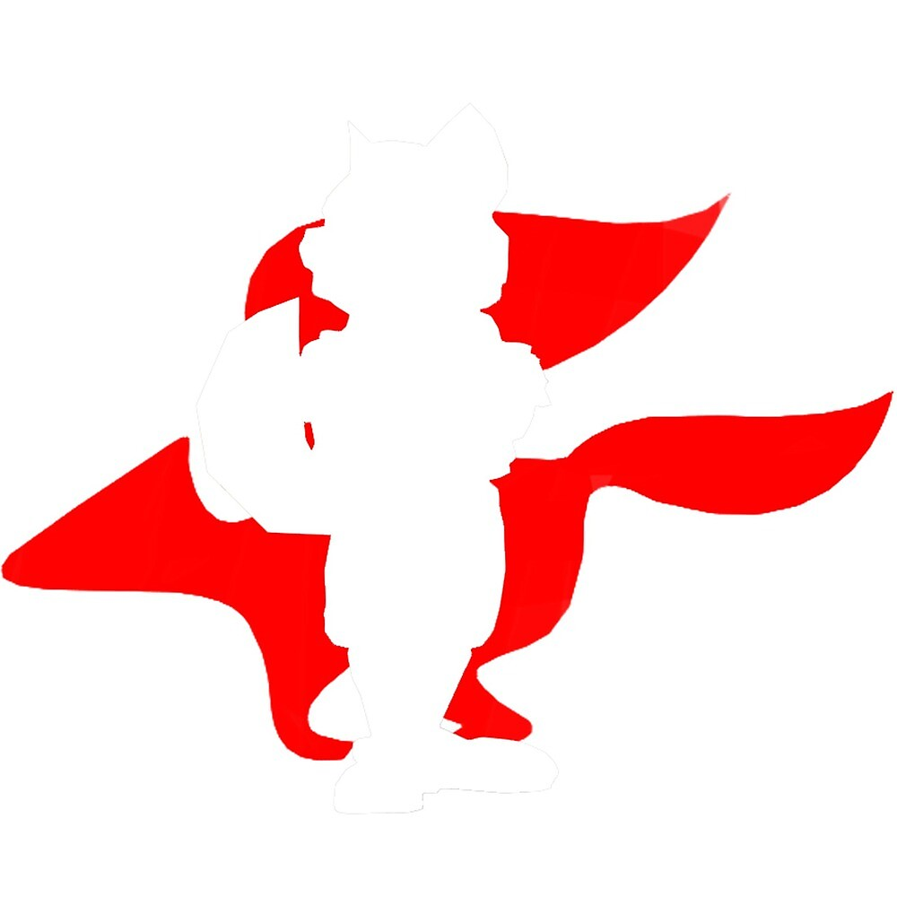 ninja silhouette red fox - photo #25