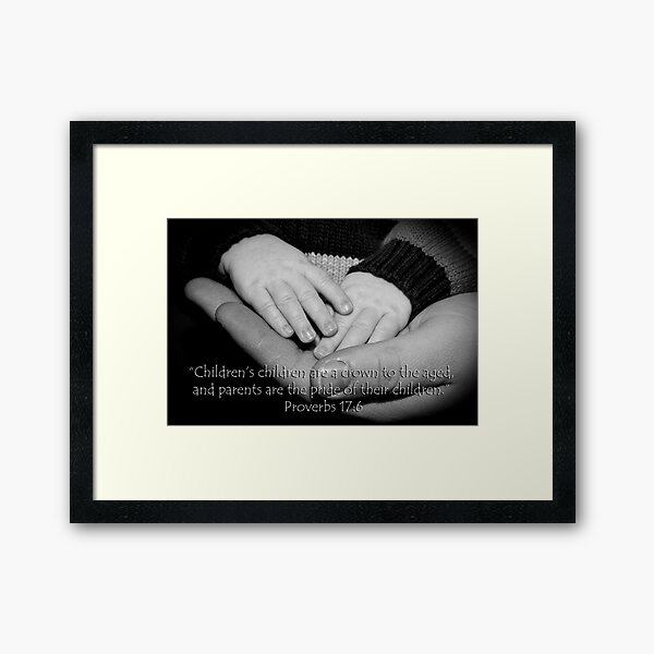 Crown to the aged Framed Art Print