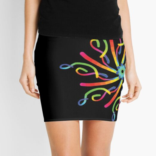 mandala 2 - rainbow spirit  Mini Skirt