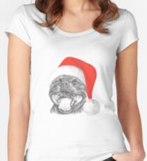 Staffie Smile Christmas - Staffordshire Bull Terrier Women's Fitted Scoop T-Shirt