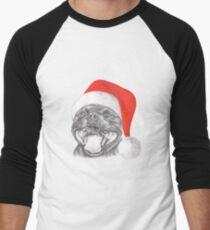 Staffie Smile Christmas - Staffordshire Bull Terrier Men's Baseball ¾ T-Shirt