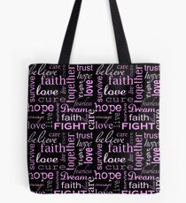 Breast Cancer - Black Tote Bag