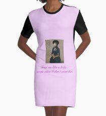 Treat Me Like a Lady--Sometimes Graphic T-Shirt Dress