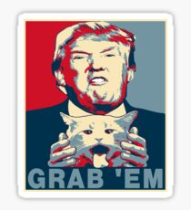 Trump Grab Em Poster Sticker