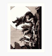 Crag Werewolf Art Print