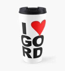 """I Love Gord"" Heart Design inspired by Gord Downie of the Tragically Hip Travel Mug"