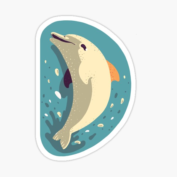 D for Dolphin Sticker