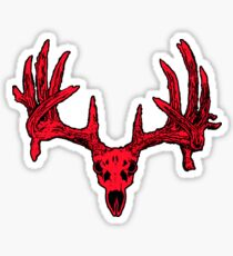 Deer skull red  Sticker