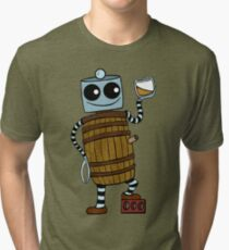 Whiskey Barrel Bot Tri-blend T-Shirt