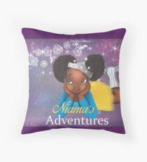 Niama's Adventures: The Magic Tutu Throw Pillow
