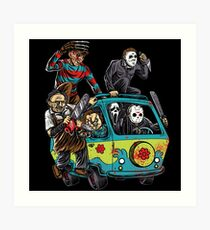 The Massacre Machine Horror Art Print