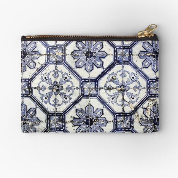 Lisbon Blue Azulejos Zipper Pouch