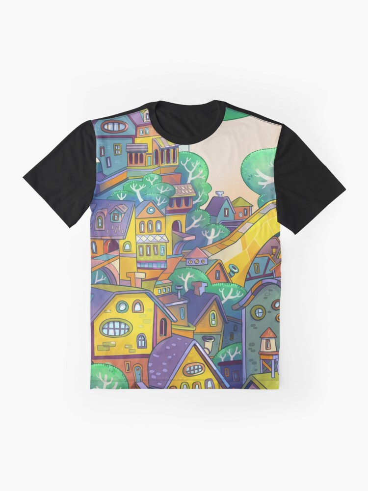 Alternate view of Tree Top Town Graphic T-Shirt