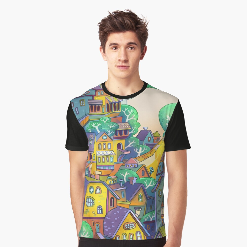 Tree Top Town Graphic T-Shirt