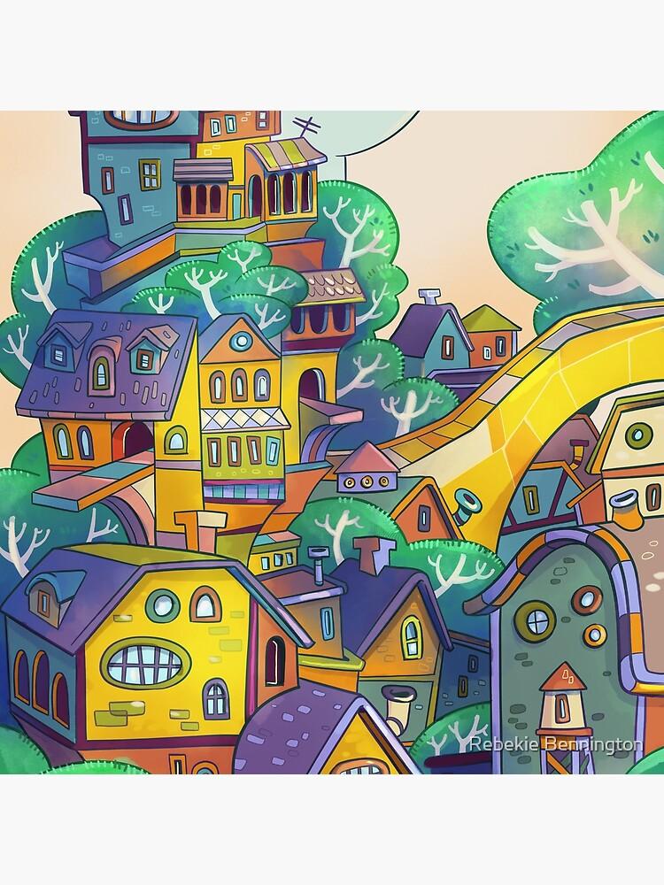 Tree Top Town by rebekieb