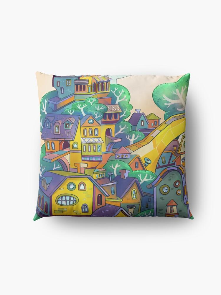 Alternate view of Tree Top Town Floor Pillow