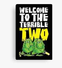 Graphic Terrible Two (dark) Canvas Print