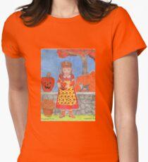 PUMPKIN GIRL Women's Fitted T-Shirt