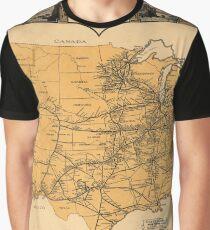 Greyhound Bus Line Map 1935 Graphic T-Shirt