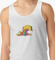 Taco puking a rainbow Tank Top