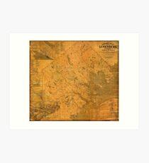 Map of Lunenburg 1864 Art Print