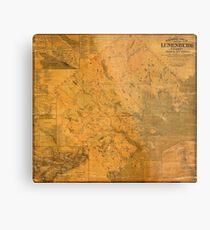 Map of Lunenburg 1864 Metal Print