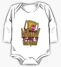 Millennial Will Work for Stock Options! One Piece - Long Sleeve