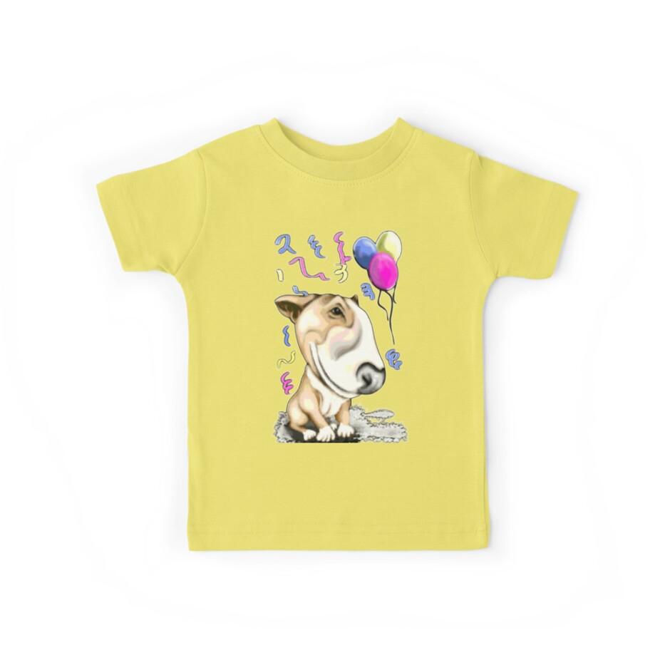 Party Bull Terrier Tan by Sookiesooker