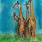 A family of Giraffe's  by David M Scott