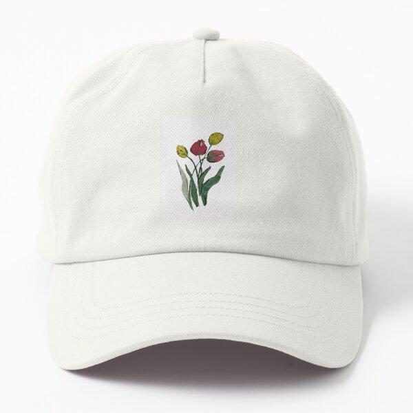 Watercolor tulips Dad Hat