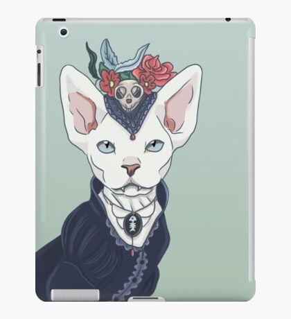 Victorian vampire kitty iPad Case/Skin