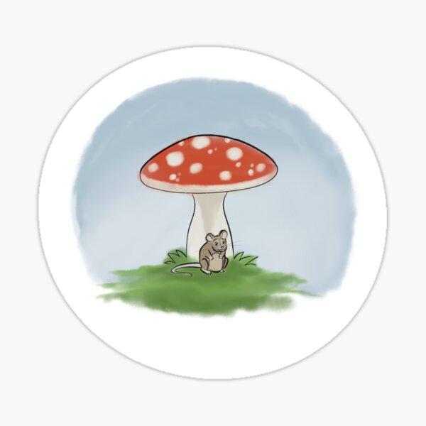 Little mushroom little mouse Sticker