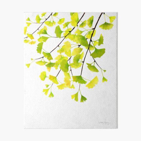 Ginkgo Branches Watercolor  Art Board Print