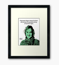Annie Laurie Gaylor Women's Rights Framed Print