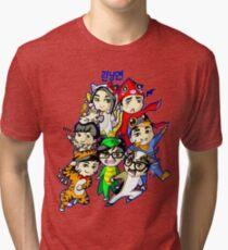 Running Man Kigurumi Tri-blend T-Shirt