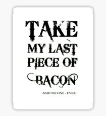 Bacon Typography Sticker