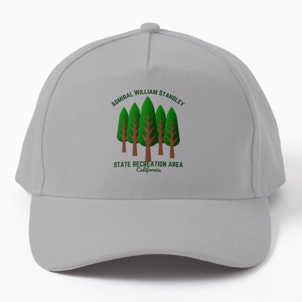 Admiral William Standley State Recreation Area, Branscomb California, Dark Green Text- Hiking /Recreation Baseball Cap
