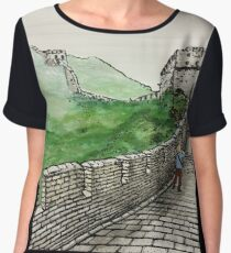 Great Wall of China Women's Chiffon Top