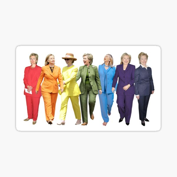 Hillary Pantsuit Rainbow  Sticker