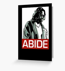 Jeff Lebowski (the dude) abides - the big lebowski Greeting Card