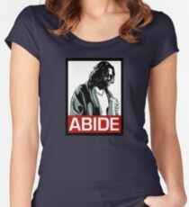 Jeff Lebowski (the dude) abides - the big lebowski Women's Fitted Scoop T-Shirt