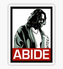Jeff Lebowski (the dude) abides - the big lebowski Sticker