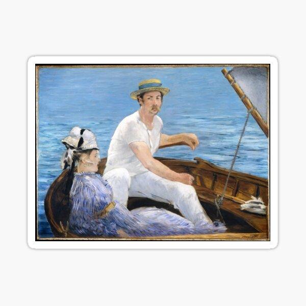 Arte vintage - Navegación | Edouard Manet francés (color remasterizado) Pegatina