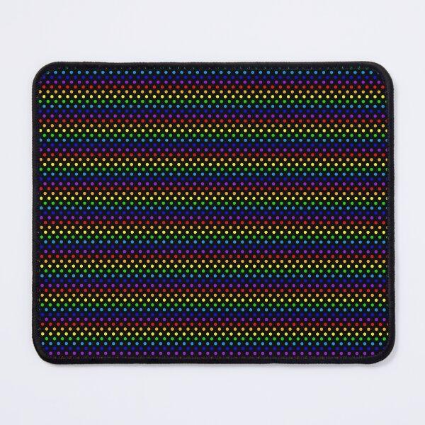 Rainbow Dots on Black Mouse Pad