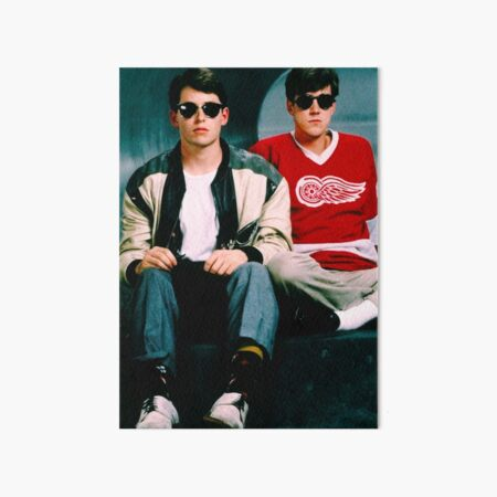 Ferris Bueller's Day Off and Cameron Poster and Tapestry  Art Board Print